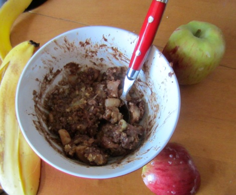 Chocolate Banapple Breakfast Bowl