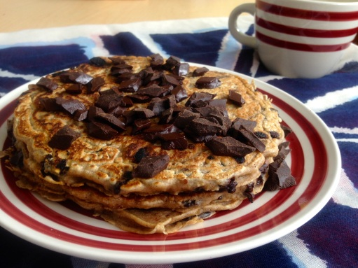 Chocolate Chip Oatmeal Pancakes